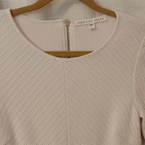 Veronica Beard- EUC-W's L White Knit Fluted Dress